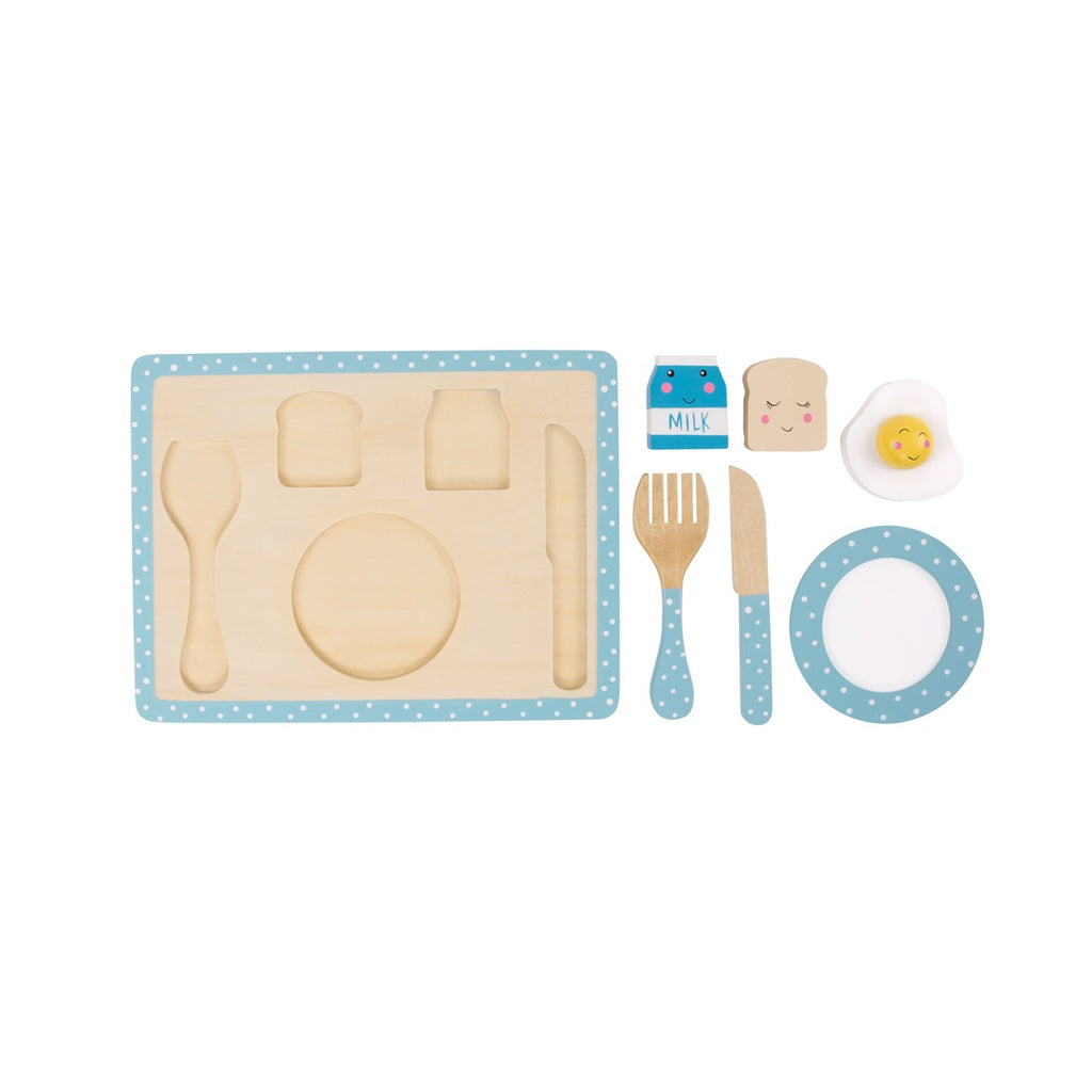 Wooden Kids Breakfast Play Set - stoneandcoshop