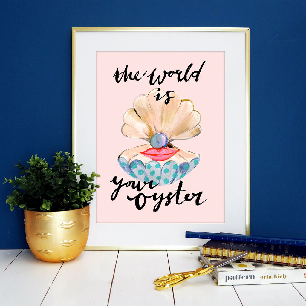 The world is your oyster print by Eleanor Bowmer - stoneandcoshop