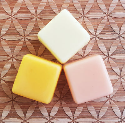 3 pcs Custom Made Solid Lotion Squares