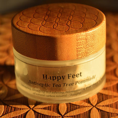 HAPPY FEET with Tea Tree - Athlete Foot Pomade with Mineral Crystals Particles in Plasma Water