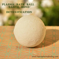 ''Earth Bond'' Detoxification Plasma Bath Ball with Copper Mineral Crystals and French Green Clay