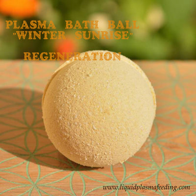 ''Winter Sunrise'' Plasma Bath Ball with Magnesium Mineral Crystal Particles