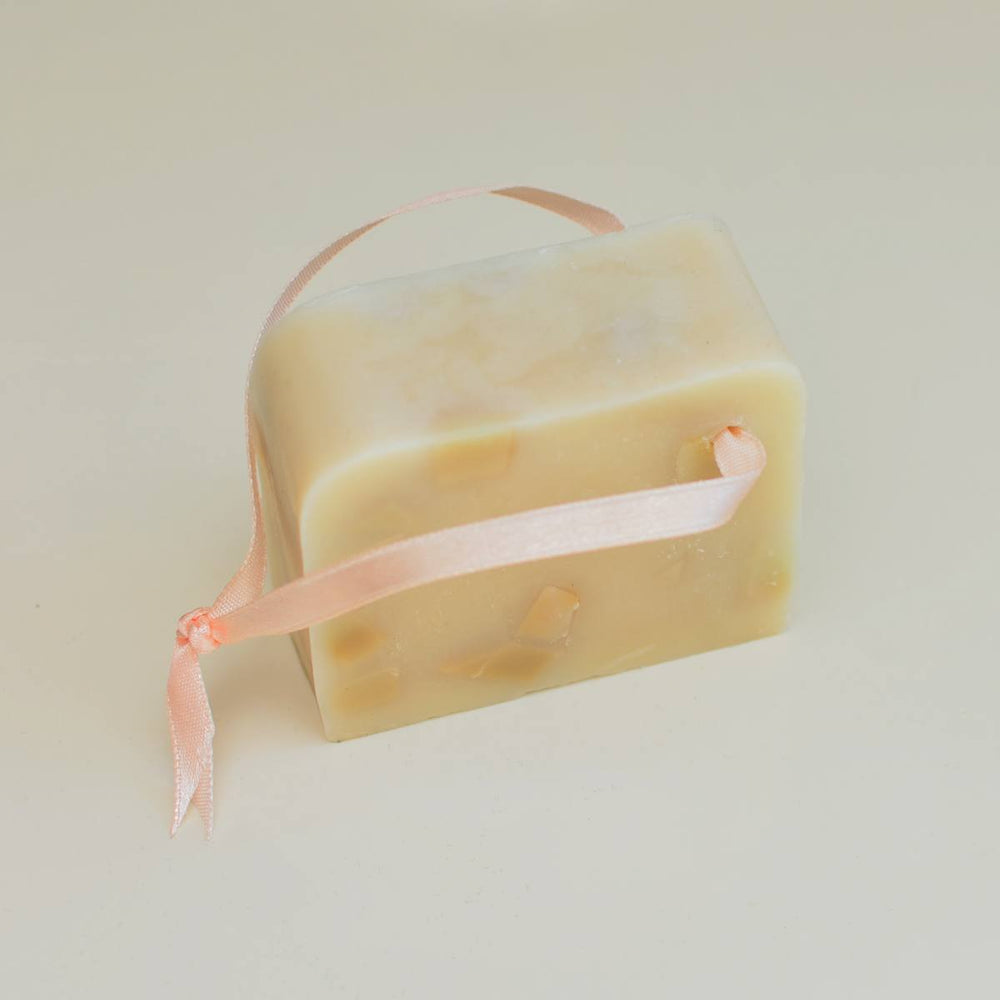 Ginseng Shower Soap on a Rope with Copper Incrustations