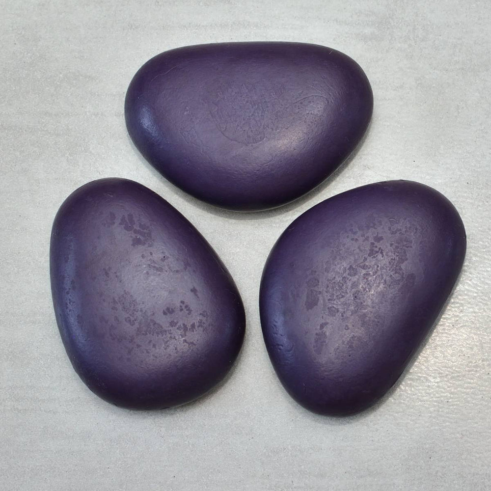 PURPLE NIGHT Riviera Pebble Soap with Lavender Set of 3