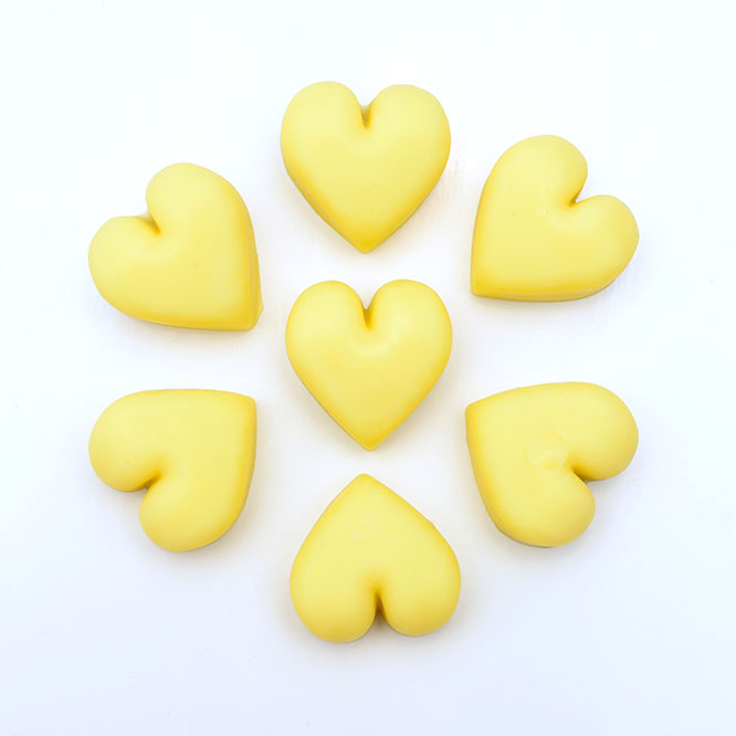 4 pcs Natural Antibacterial Solid Lotion Hearts