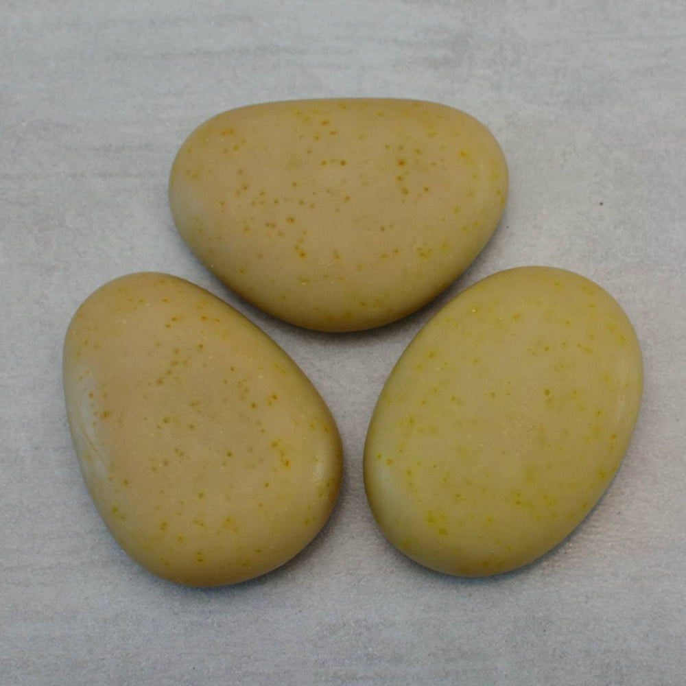 PERSIAN GOLD Riviera Pebble Soap Gold and Saffron Set of 3