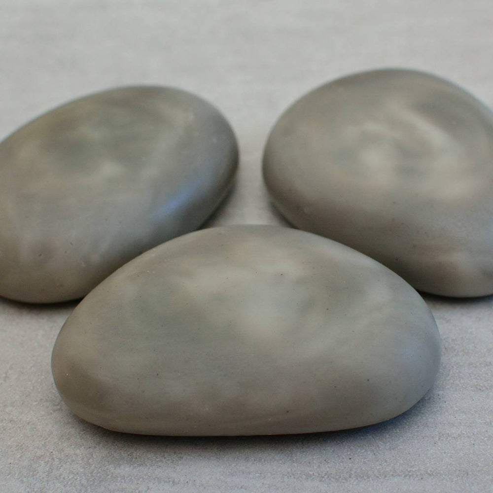 KARELIAN SWIRLS Riviera Pebble Soap with Shungite and Zinc Set of 3