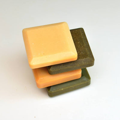 Set of 4 Essential Mineral Soap Squares with Copper and Zinc Plasma