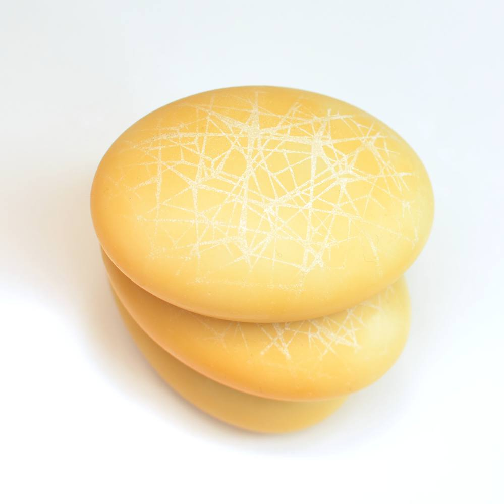Real Baltic Amber Pebble Plasma Soap with Zinc