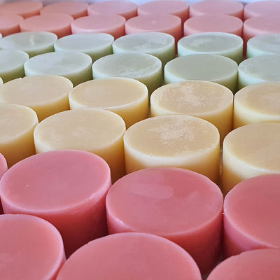 15 pcs Custom Made Solid Round Lotion bars with Essential Minerals for human body