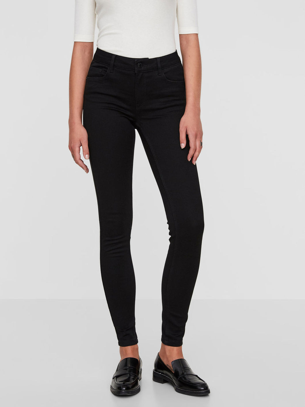 SEVEN NW SHAPE-UP SKINNY FIT JEANS - BLACK