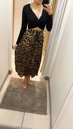 Dolls Leopard print pleated skirt