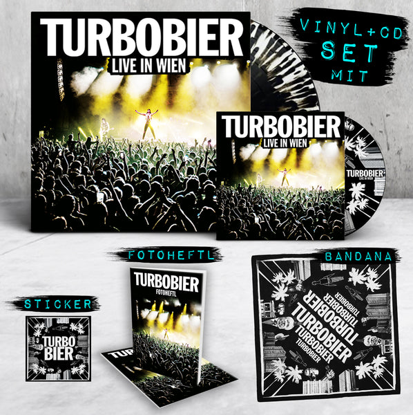 TURBOBIER - 'Live in Wien' Vinyl+CD-Set