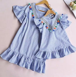 Mummy & Me - blue striped dress (2)