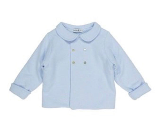 Babidu - Pram Coat in Blue or White (1)