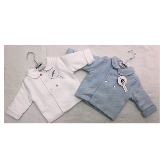 Babidu - Pram Coat in Blue or White (2)