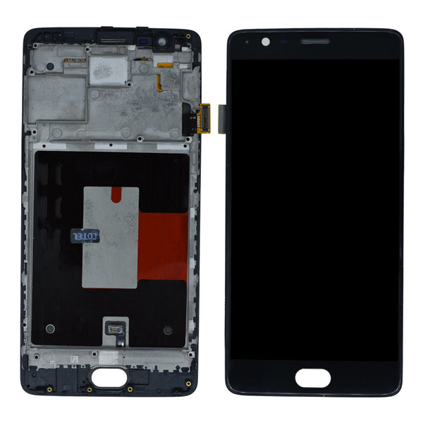 OnePlus 3T  Display And Touch Screen Glass Combo With Frame