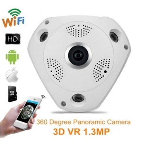 Wireless WiFi 1.3Mp Camera 360 Degree Fish-eye HD View With IR Night Motion Detection
