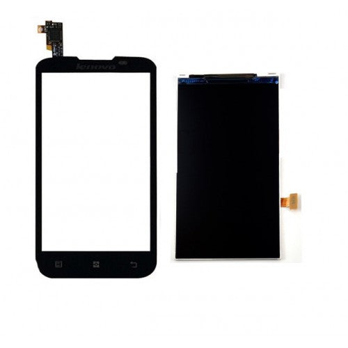 Lenovo A800 Lcd Screen With Digitizer Black - TOUCH LCD HOUSE