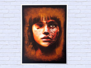 Horror Girl Dark Art limited edition Giclée print