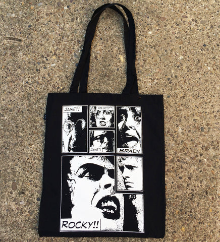 The Rocky Horror Picture Show inspired Oh Rocky!! organic cotton tote bag