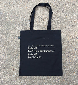 Rule #1 - Don't be a Cockwomble Bookstagram Tote Bag