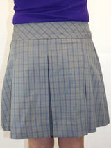 Plaid Drop Waist Skort