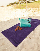 Monogrammed Velour Beach Towel
