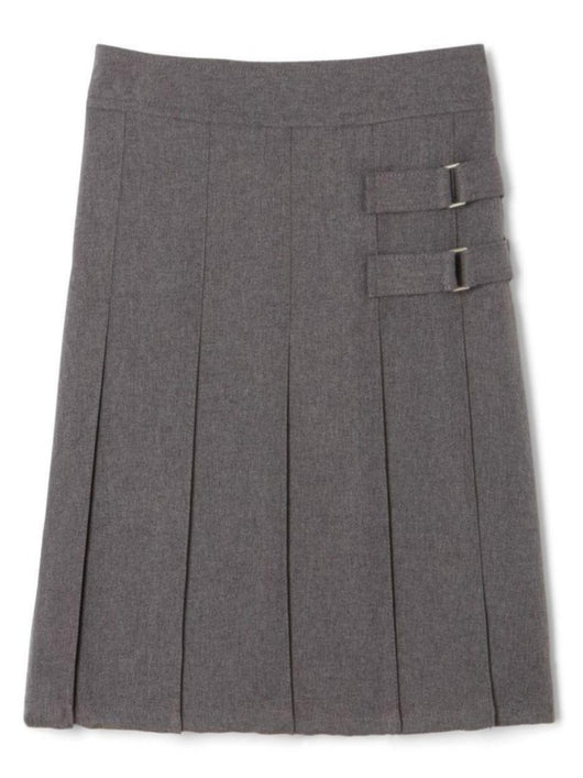 Double Buckle Gray Skirt