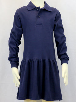 Long Sleeve Navy Polo Dress