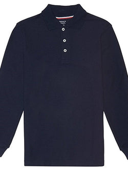 Unisex Basic Long Sleeve Polo - Navy