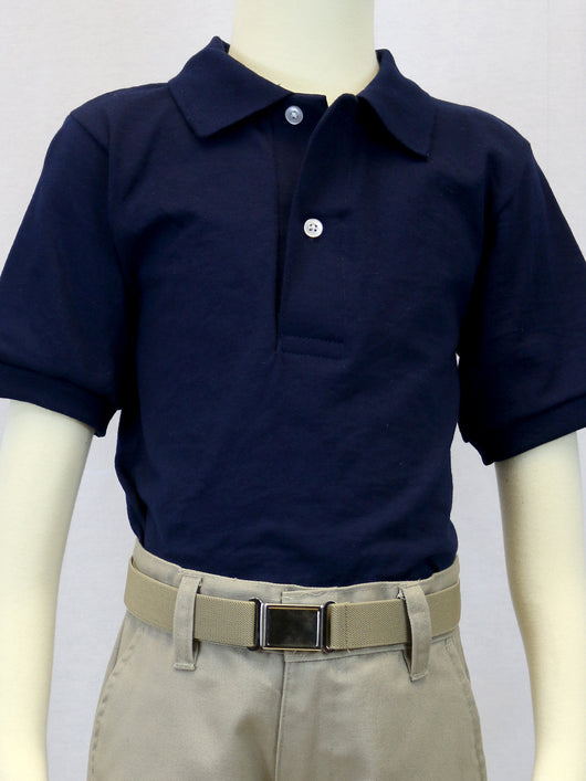 Unisex Basic Navy Polo
