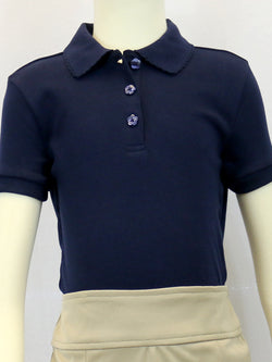Girls Basic Navy Polo