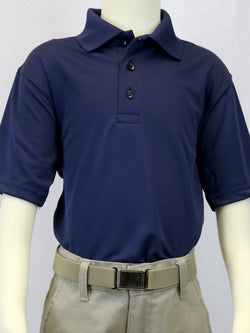 Unisex Navy Wicking Polo