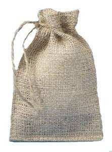 Burlap Bags with Drawstring - 4 X 6 - Lot of 24 bags