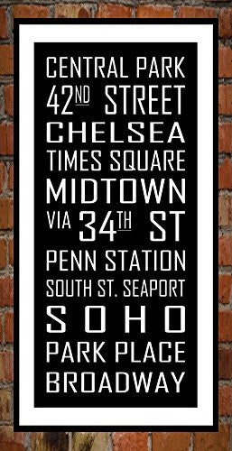 Vintage Subway Sign