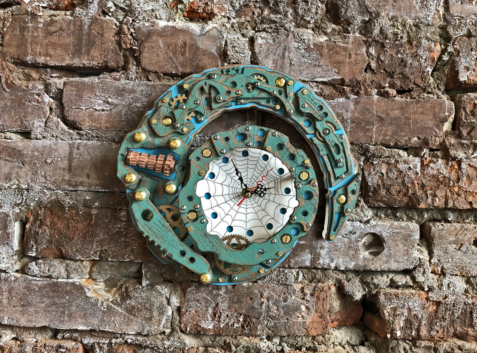 Automaton Dragon Tail Wall Clock - WOODANDROOT