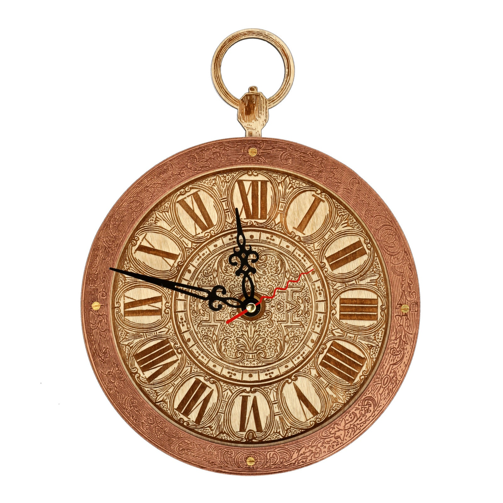 White Rabbit Pocket Watch Wall Clock - WOODANDROOT
