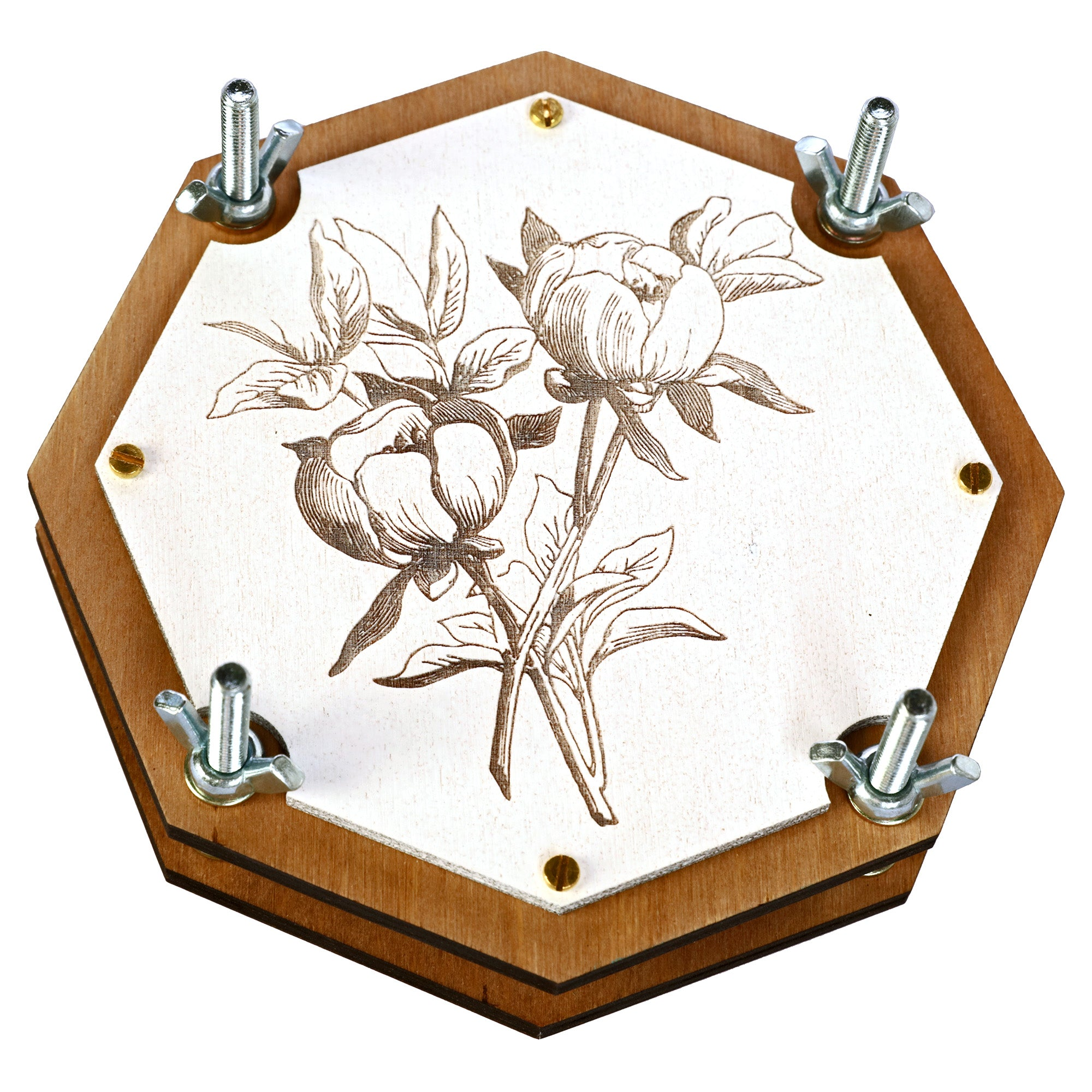 Оctahedral Botanical Flower Press - WOODANDROOT