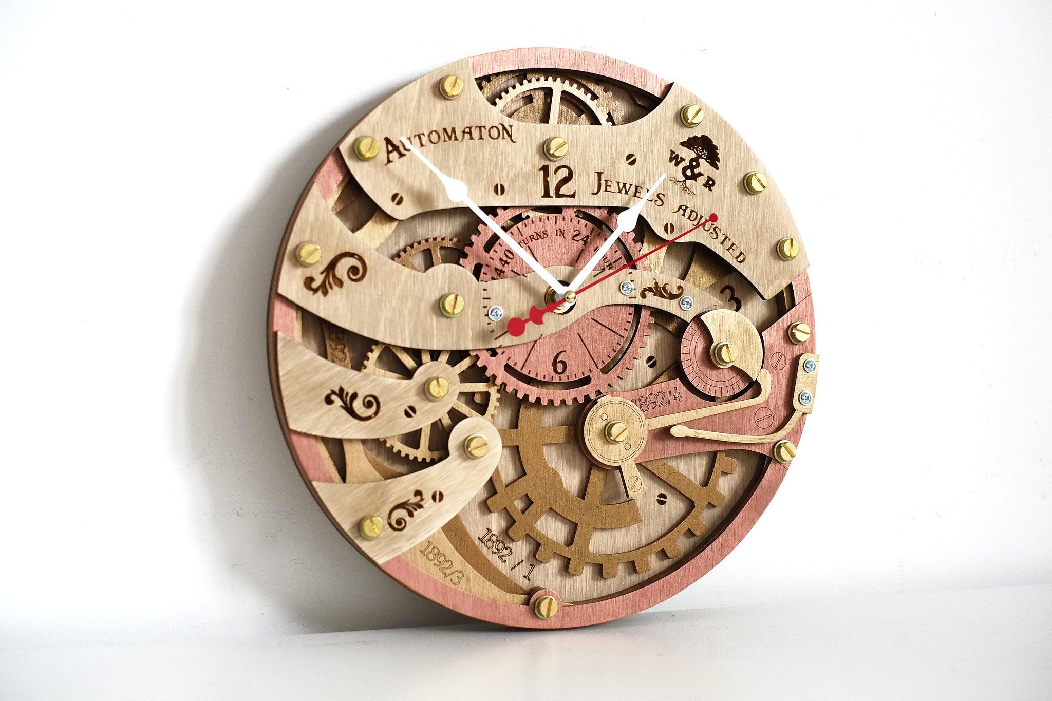 Automaton 1892 Wall Clock - WOODANDROOT