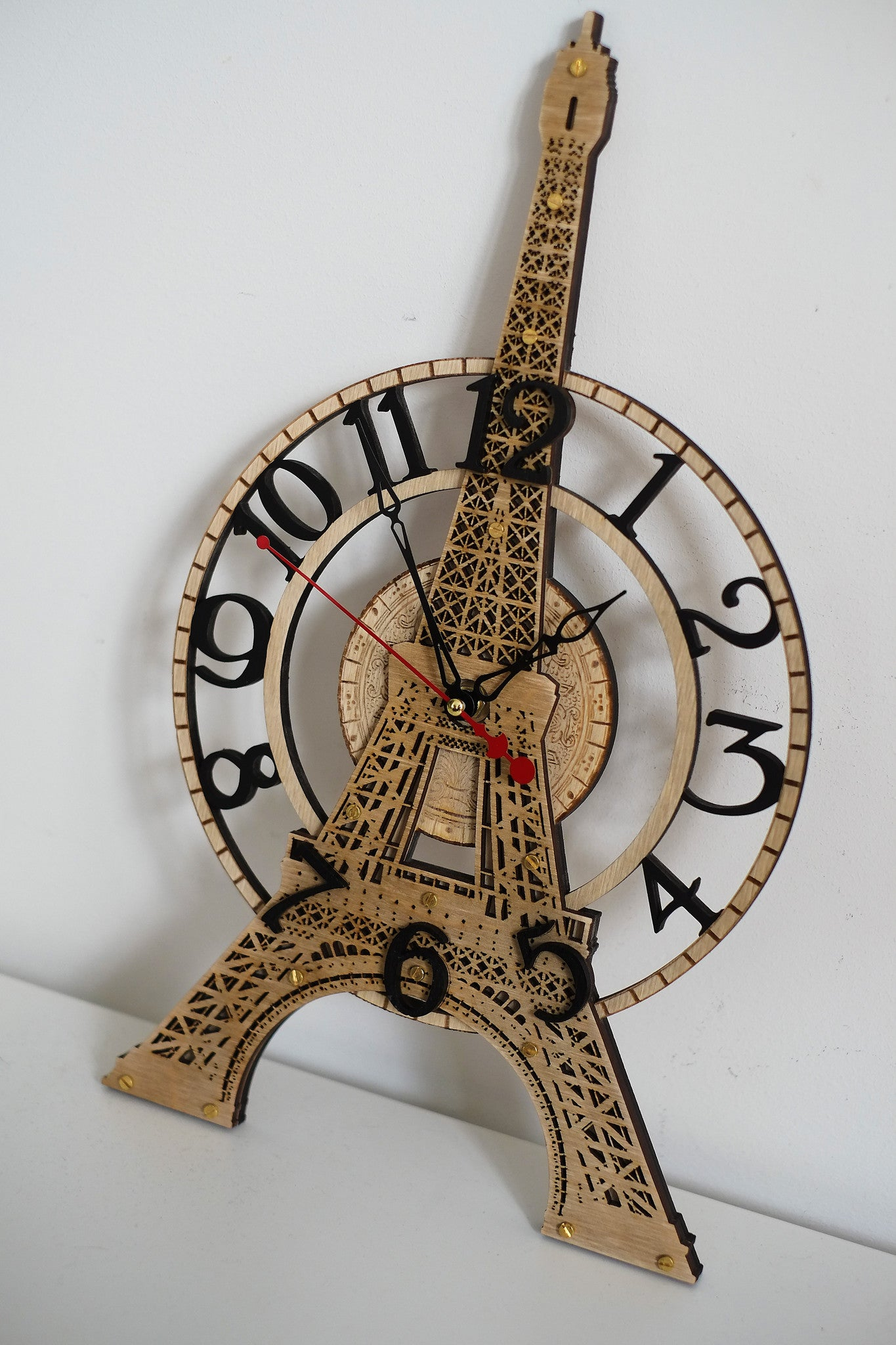 Eiffel Tower Wall Clock - WOODANDROOT