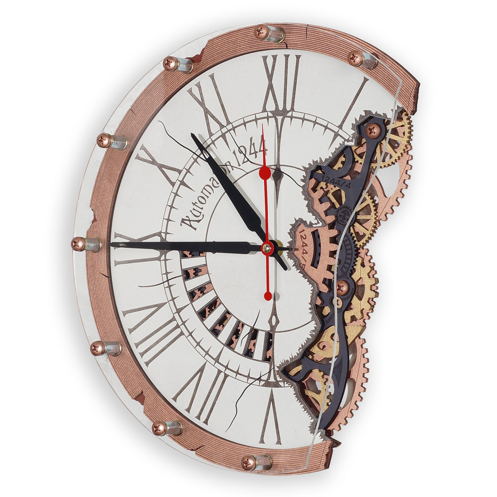 Automaton Bite 1244 Wall Clock - WOODANDROOT
