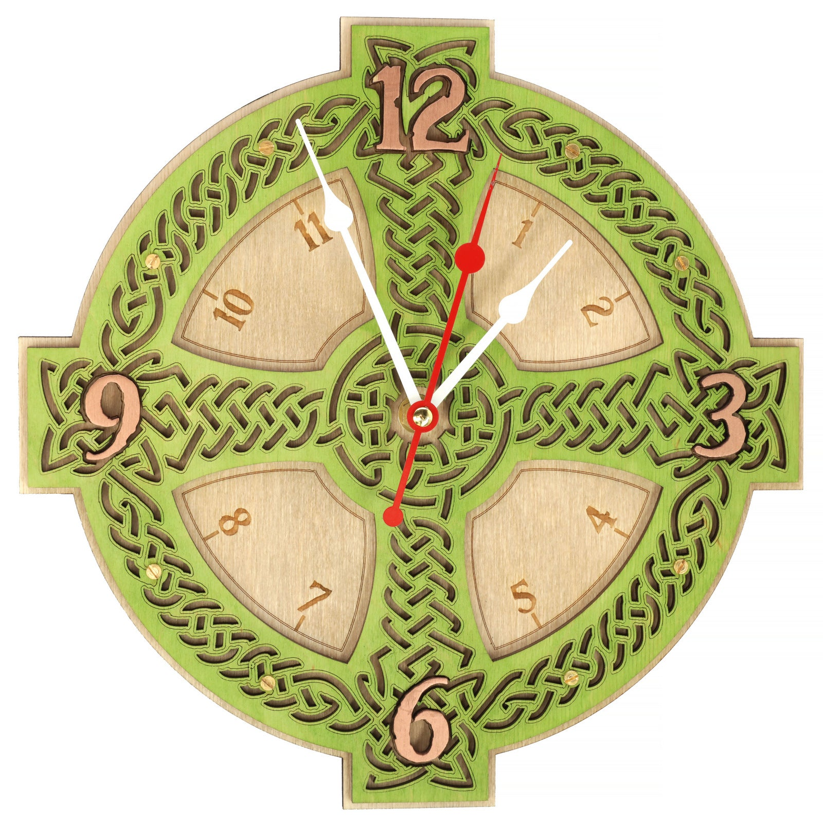 Buy Celtic Cross Wall Clock at WOODANDROOT for only $39.50