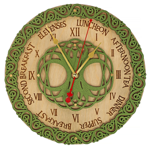 Celtic Meal Times Wall Clock - WOODANDROOT