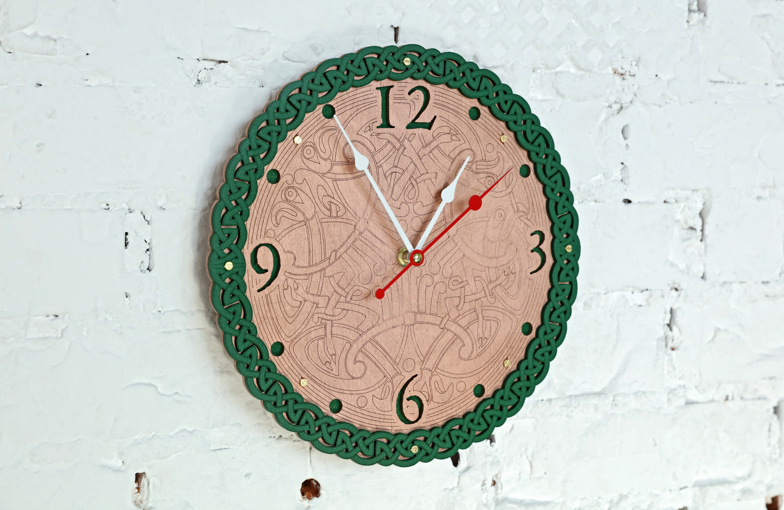 Celtic Ornament Wall Clock - WOODANDROOT