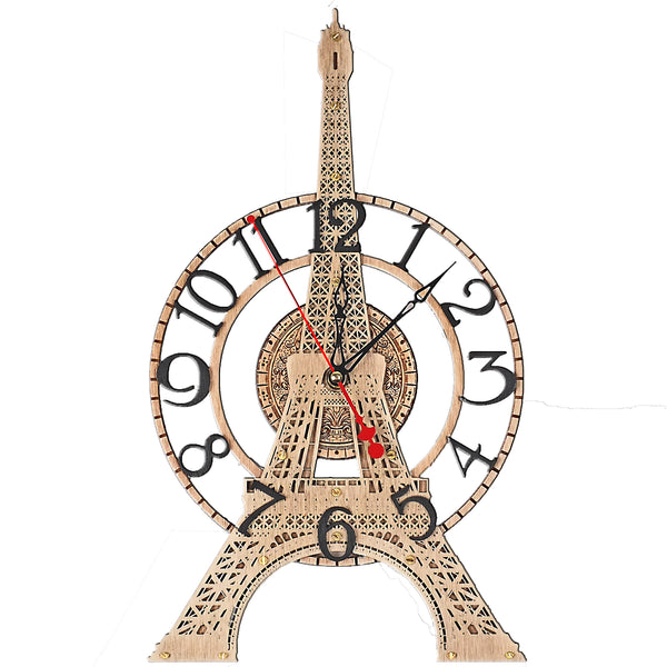 Buy Eiffel Tower Wall Clock At Woodandroot For Only 65 00