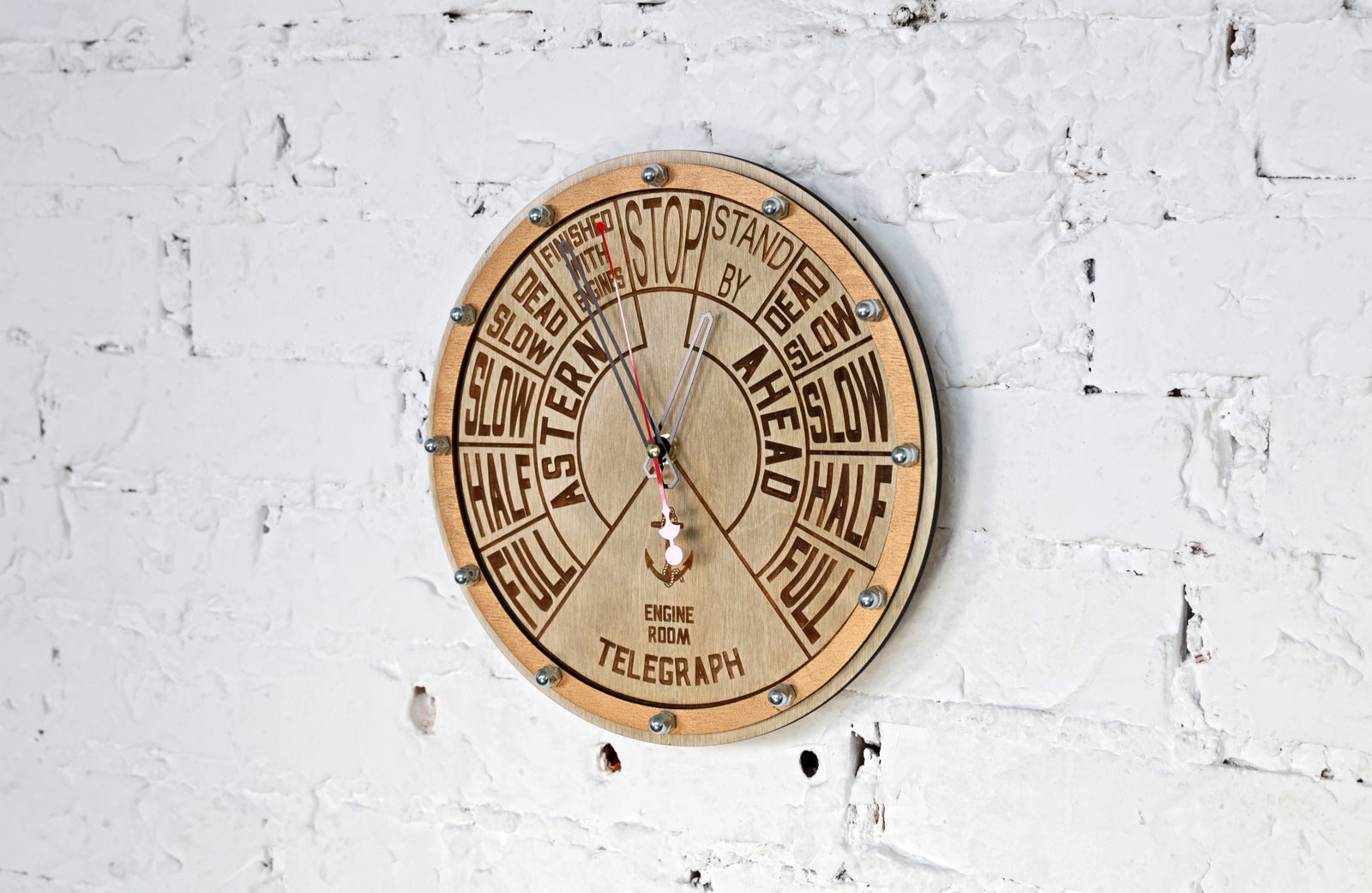 Engine Order Telegraph Wall Clock - WOODANDROOT
