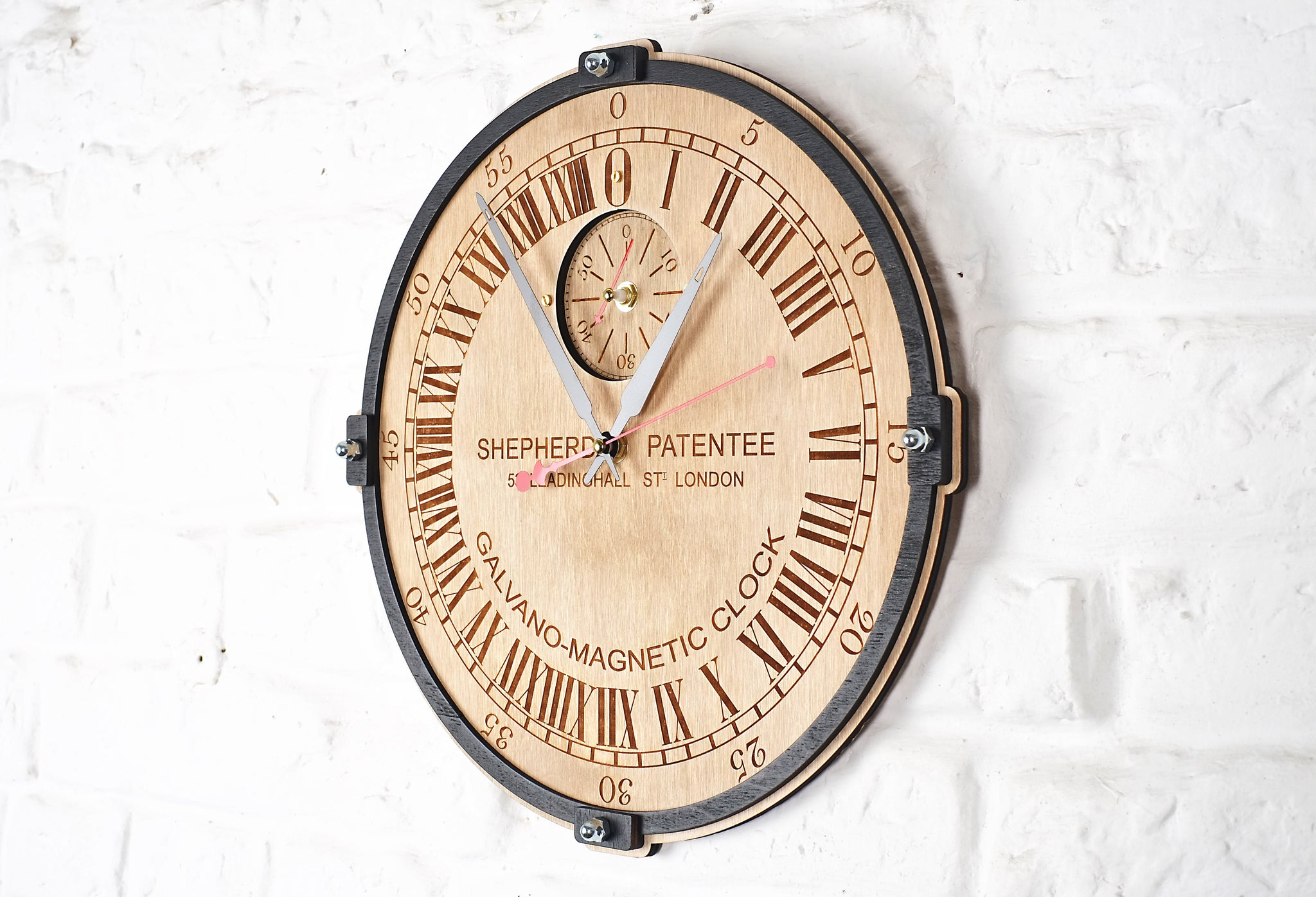 Greenwich Mean Time 24 Hour Wall Clock - WOODANDROOT