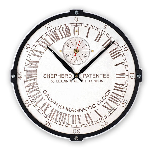 Greenwich Mean Time White 24 Hour Wall Clock - WOODANDROOT
