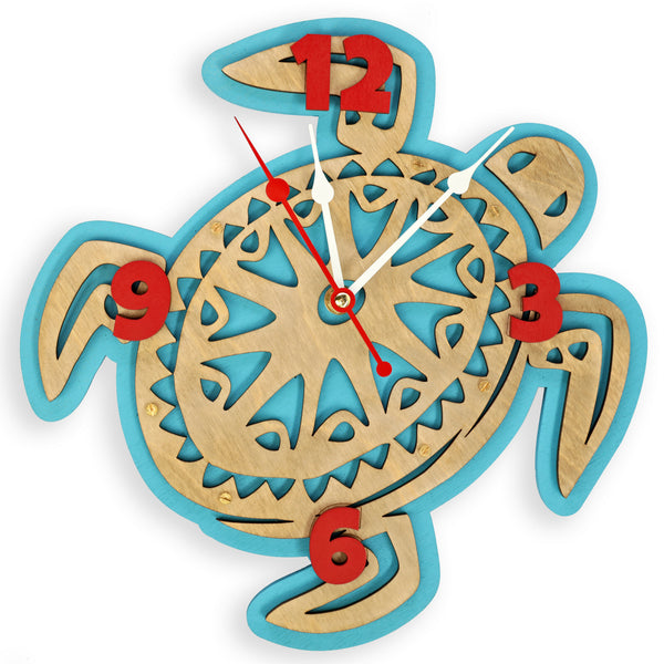 Hawaiian Turtle Wall Clock - WOODANDROOT